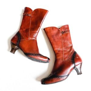 Pikolinos Cuba Mid Calf Leather Boot